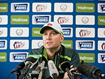 Michael Clarke addresses the media in Watford England. June 21, 2015