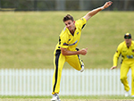 Mitch Marsh of the Warriors bowls against New South Wales. October 10, 2015 Sydney Australia.