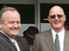Trail Blazers owner Dick Karreman (right) with Rick Williams