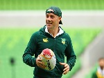 COOPER CRONK of the Australian Kangaroos at a training session in Melbourne, Australia