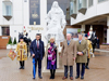 The Duchess of Cornwall formally unveils statue of King Charles II