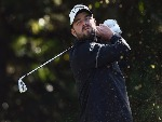 MARC LEISHMAN of Australia hits a tee shot in the final round of the CJ Cup at Nine Bridges in Jeju, South Korea.