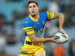 MITCHELL MOSES of the Eels in action during the NRL match between the South Sydney Rabbitohs and the Parramatta Eels at ANZ Stadium in Sydney, Australia.