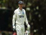 PETER NEVILL of New South Wales looks on during the Sheffield Shield match between Queensland and New South Wales.