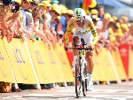 RICHIE PORTE of Australia and Team Sky competes during Tour de France in Utrecht, Netherlands