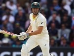 SHAUN MARSH of Australia bats during the Ashes Series at Adelaide Oval in Adelaide, Australia.