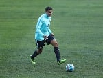 TIM CAHILL passes during an Australia Socceroos training session at ANZ Stadium in Sydney, Australia