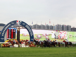 GLORIOUS FOREVER winning the Longines Hong Kong Cup at Sha Tin, in Hong Kong.