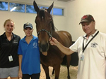 Trainer Tony Millard, wife Beverly and daughter Dominique are ready to cheer Horse Of Fortune on on Saturday.