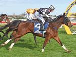 London Express winning the J Turkington Castletown Stakes