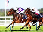 MAGICAL winning the QIPCO British Champions Fillies & Mares Stakes during QIPCO British Champions Day in Ascot, England.