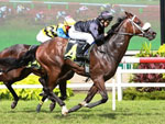 Majestic Moments winning the CA TRANSPORTATION & WAREHOUSING P/L KRANJI STAKES A
