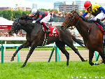 SUNGRAZER winning the Sapporo Kinen at Sapporo in Japan.
