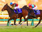 TIME FLYER winning the Hopeful Stakes at Nakayama in Japan.
