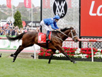 Winx winning the Ladbrokes Cox Plate