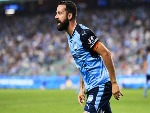ALEX BROSQUE of Sydney reacts after being tackled during the A-League match between Sydney FC and the Brisbane Roar at Allianz Stadium in Sydney, Australia.