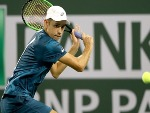 ALEX DE MINAUR of Australia plays Juan Martin Del Potro of Argentina during the BNP Paribas Open at the Indian Wells Tennis Garden in Indian Wells, California.