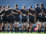 The All Blacks re-group during the New Zealand All Blacks Captain's Run at Eden Park in Auckland, New Zealand.