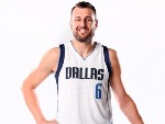 ANDREW BOGUT of the Dallas Mavericks poses for a portrait during the Dallas Mavericks Media Day held at American Airlines Center in Dallas, Texas.