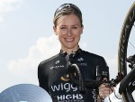 ANNETTE EDMONDSON of Australia and Wiggle High5 poses after winning the Womens's event at the Towards Zero Race Melbourne, in Australia.