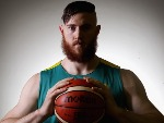 ARON BAYNES poses Mission during the Australian Olympic Games Men's Basketball team announcement at Melbourne Sports and Aquatic Centre in Melbourne, Australia.