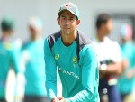 ASHTON AGAR during an Australian nets session at SCG in Sydney, Australia.