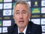 Socceroos Head Coach BERT VAN MARWIJK speaks to media during a press conference at FFA Headquarters in Sydney, Australia.