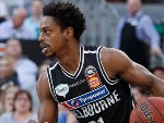 CASPER WARE of Melbourne United runs with the ball during the NBL match between Melbourne United and the Brisbane Bullets at Hisense Arena in Melbourne, Australia.