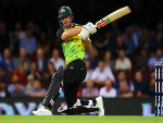 CHRIS LYNN of Australia bats during the International Twenty20 series between Australia and New Zealand at SCG in Australia.