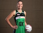 COURTNEY BRUCE of the West Coast Fever poses during the Suncorp Super Netball 2018 season launch in Sydney, Australia.