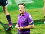 Storm head coach CRAIG BELLAMY looks dejected after defeat during the NRL match between the Melbourne Storm and the Wests Tigers at AAMI Park in Melbourne, Australia.