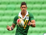 DANE GAGAI of the Kangaroos runs with the ball during an Australian Kangaroos training session in Melbourne, Australia.