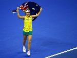 DARIA GAVRILOVA winning the Fed Cup in Wollongong, Australia.