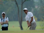 DAVID MICHELUZZI of Australia in action during the Asia-Pacific Amateur Championship at Sentosa Golf Club in Singapore.