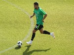 DIMITRI PETRATOS of Australia runs with the ball during the Australian Socceroos Training Session at the Gloria Football Club in Antalya, Turkey.