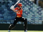ELYSE VILLANI of the Scorchers bats during the Women's Big Bash League match between the Perth Scorchers and the Hobart Hurricanes at WACA in Perth, Australia.