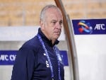 Head coach GRAHAM ARNOLD of Sydney FC looks on prior to the AFC Champions League Group H match between Suwon Samsung Bluewings and Sydney FC at Suwon World Cup Stadium in Suwon, South Korea.