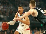 JACOB WILEY of Adelaide 36ers drives to the basket during the NBL match between Melbourne United and the Adelaide 36ers at Hisense Arena in Melbourne, Australia.