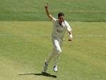 JHYE RICHARDSON of the Warriors celebrates after taking the wicket of the Blues during the Sheffield Shield match between Western Australia and New South Wales at Perth Stadium in Perth, Australia.