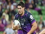 JORDAN MCLEAN of the Melbourne Storm runs with the ball during the round three NRL match between the Melbourne Storm and the Brisbane B
