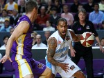 KEVIN BRASWELL of the Breakers in action during the NBL match between the Sydney Kings and the New Zealand Breakers at Sydney Entertainment Centre in Sydney, Australia.