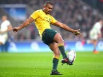 KURTLEY BEALE of Australia in action during the Old Mutual Wealth Series match between England and Australia at Twickenham Stadium in London, England.