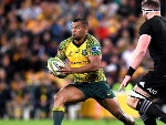 KURTLEY BEALE of the Wallabies in action during the Bledisloe Cup match between the Australian Wallabies and the New Zealand All Blacks at Suncorp Stadium in Brisbane, Australia.