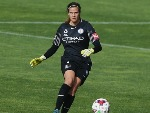 City Goalkeeper LYDIA WILLIAMS kicks the ball during the W-League match between Melbourne City and Adelaide United at CB Smith Reserve in Melbourne, Australia.