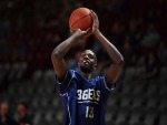 MAJOK DENG of the Adelaide 36ers warms up prior to game two of the NBL Grand Final series between the Adelaide 36ers and Melbourne United at Titanium Security Arena in Adelaide, Australia.