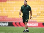 Australia coach MAL MENINGA looks on during an Australian Kangaroos training session at SS in Brisbane, Australia.