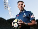 New recruit MARK MILLIGAN poses during a Melbourne Victory A-League media announcement at AAMI Park in Melbourne, Australia.