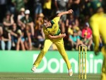 MEGAN SCHUTT of Australia bowls during the Women's International Twenty20 series between Australia and New Zealand in Brisbane, Australia.