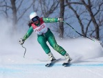MELISSA PERRINE of Australia compete in the Alpine Skiing Women's Downhill, Visually Impaired during PyeongChang 2018 Paralympic Games In Pyeongchang-gun, South Korea.