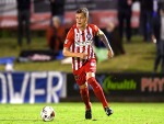MICHAEL JAKOBSEN of Melbourne City in action during the FFA Cup match between the Peninsula Power and Melbourne City FC at Dolphin Stadium in Brisbane, Australia.